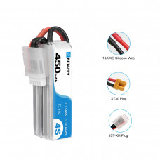 BetaFPV 450mAh 4S 75C Battery (XT30)